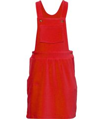 stretch corduroy drilla jurk rood mads nørgaard