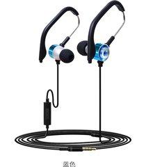 audífonos estéreo hd manos libres deportivos, kdk-45 hifi estéreo con cable de deporte en el oído auriculares earbuds gancho de oreja corriendo (azul)