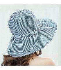 sombrero para mujer, l sol del verano del las sombrero-azul