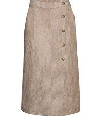 sacha knälång kjol beige masai