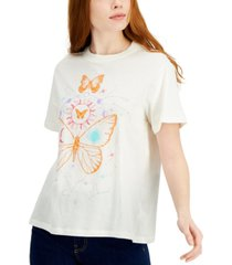 self esteem juniors' butterfly astro-graphic oversized t-shirt