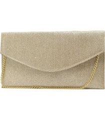 bolsa de festa hendy bag envelope glitter dourado - tricae