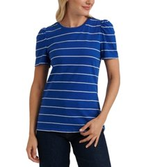 lucky brand striped puffed-sleeve t-shirt