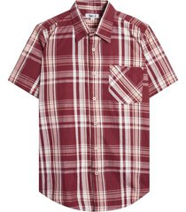 camisa a cuadros color vino, talla s