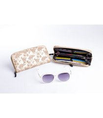 billetera en cuero - andrea ruiz - bcr-0114 - oro