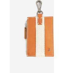 jacquemus leather wallet with contrasting herringbone detail