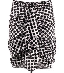 alexandre vauthier ruched mini skirt - pink