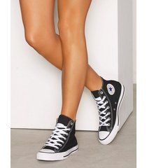 converse all star canvas hi high top svart