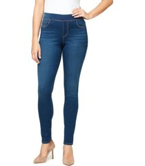gloria vanderbilt women's avery pull on slim jeans pant, in regular & petite sizes