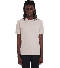 maison margiela t-shirt in beige cotton