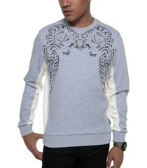sean john men's embroidered tiger sweatshirt