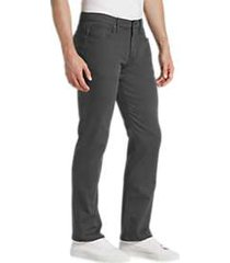 joe's jeans brixton charcoal gray slim fit twill pants