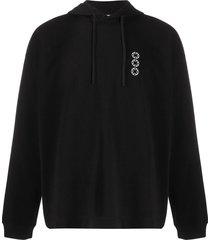 1017 alyx 9sm chest logo cotton hoodie - black
