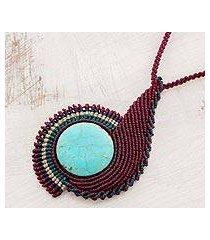 pendant necklace, 'magnificent spiral' (el salvador)