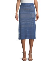 allison new york women's knit midi skirt - midnight blue - size xs