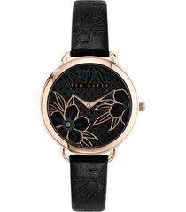 women's ted baker london hettie leather strap watch, 37mm