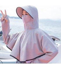 sombrero de sol anti-ultravioleta de verano para mujer gris