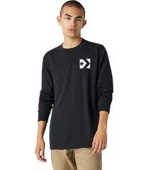 converse camiseta de manga larga wordmark black