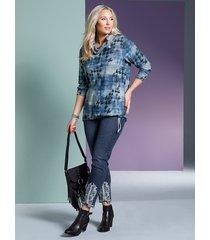 7/8-jeans miamoda blue stone