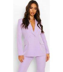 getailleerde blazer met laag decolleté, lilac