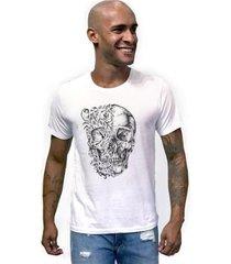 camiseta joss caveira duas caras masculina