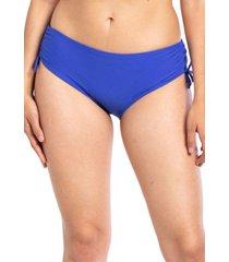 bikini calzón ajustable caderas azul samia
