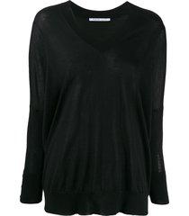 agnona fine knit sweater - black