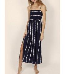 lange jurk admas stropdas en kleurstof zomer maxi-jurk marineblauw adma's