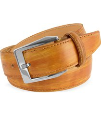 pakerson designer men's belts, men's ocher hand painted italian leather belt