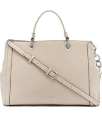 dkny gianna leather tote