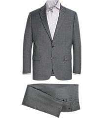 lauren by ralph lauren charcoal sharkskin classic fit suit