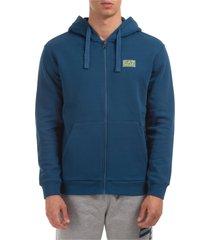 emporio armani ea7 textum 7 zip-up sweatshirt
