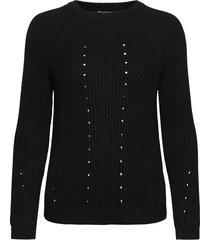 objmaya l/s knit pullover noos stickad tröja svart object