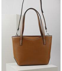bolsa de ombro feminina shopper grande com alça removível caramelo