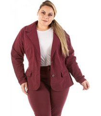 blazer jeans new stretch plus size feminino