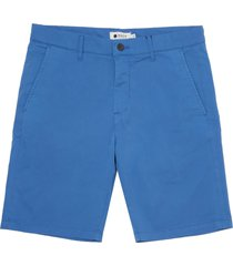 nn07 cobalt blue crown shorts 1004-218
