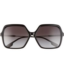 burberry 59mm square sunglasses in black/grey gradient at nordstrom