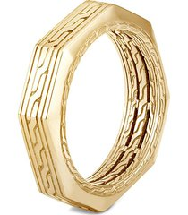 'classic chain' 18k gold octagonal band ring