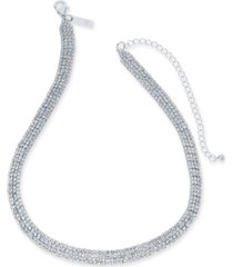 """inc rhinestone mesh statement necklace, 15"""" + 4"""" extender, created for macy's"""
