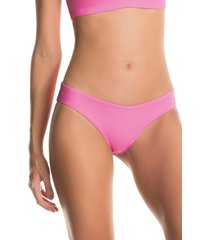 women's maaji aurora pink sublime reversible bikini bottoms, size x-small - pink
