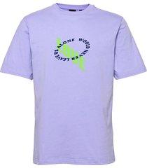 korjac t-shirts short-sleeved lila daily paper