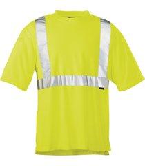 wolverine men's caution short sleeve tee hi vis green, size l