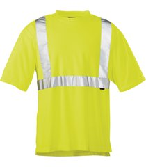 wolverine men's caution short sleeve tee hi vis green, size xxl