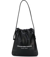 alexander wang ryan drawstring shoulder bag - black