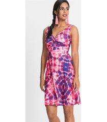jersey jurk met batikprint