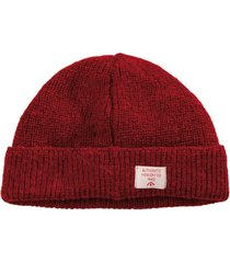 nigel cabourn solid beanie   vintage red   ncacc7-vtr