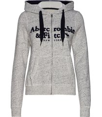 anf womens sweatshirts hoodie trui grijs abercrombie & fitch