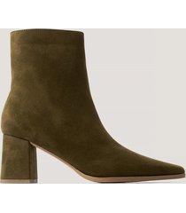 na-kd shoes boots i mockaimitation med smal tå - green