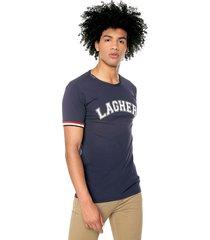 camiseta moda hombre premium tela fría color azul oscuro ref: lagher