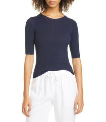 women's vince broomstick pleated cotton pullover